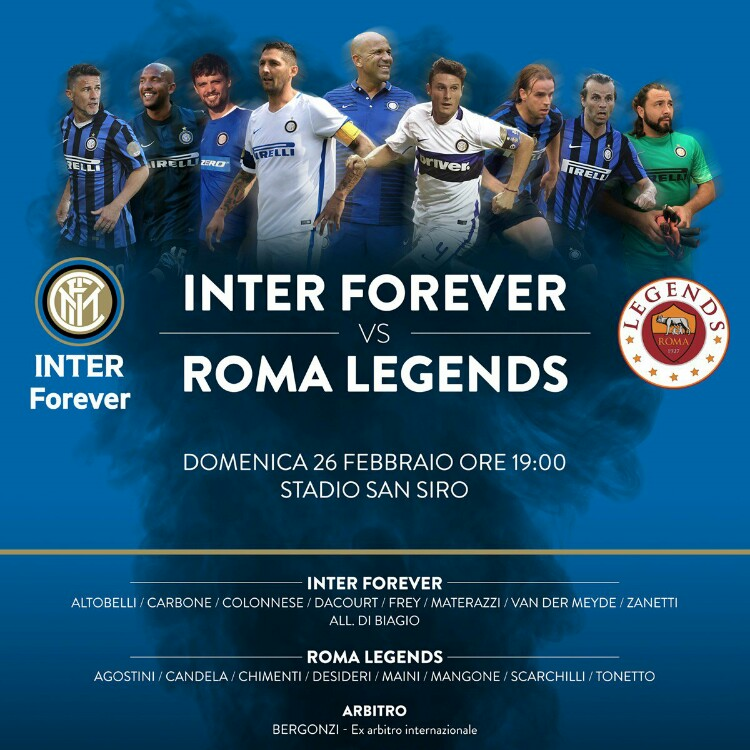 Inter forever vs Roma legends