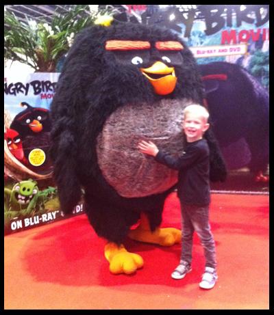 Black Angry Bird at Kidtropolis