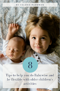 Are you a babywise mom about welcome a new baby into the family? It is possible to do Babywise with a new baby, without having to stay home all the time. Read on for 8 tips for doing babywise with a new baby and older children's activities