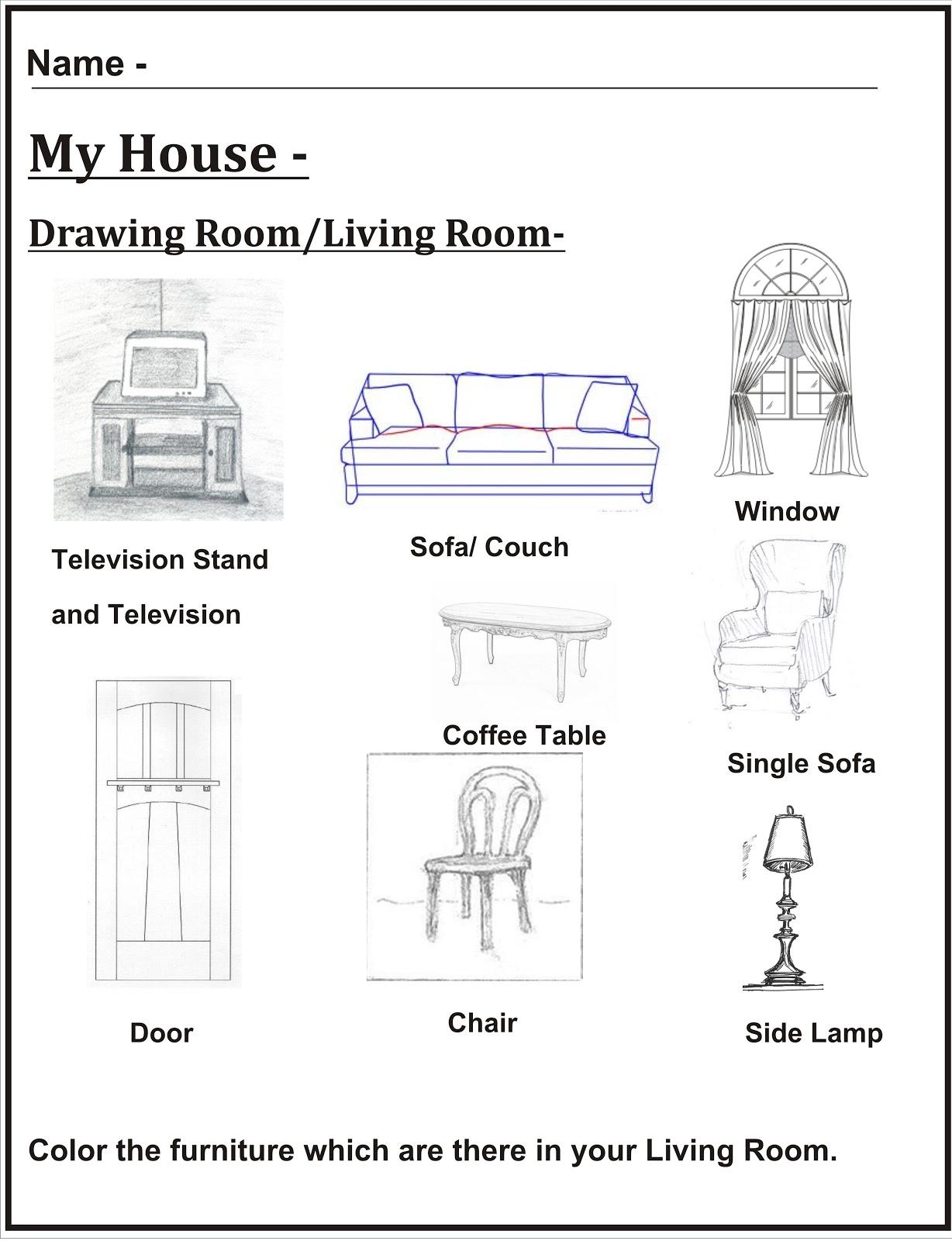 Kids House Drawing: Euro Kids- Ashiana Nagar: My House