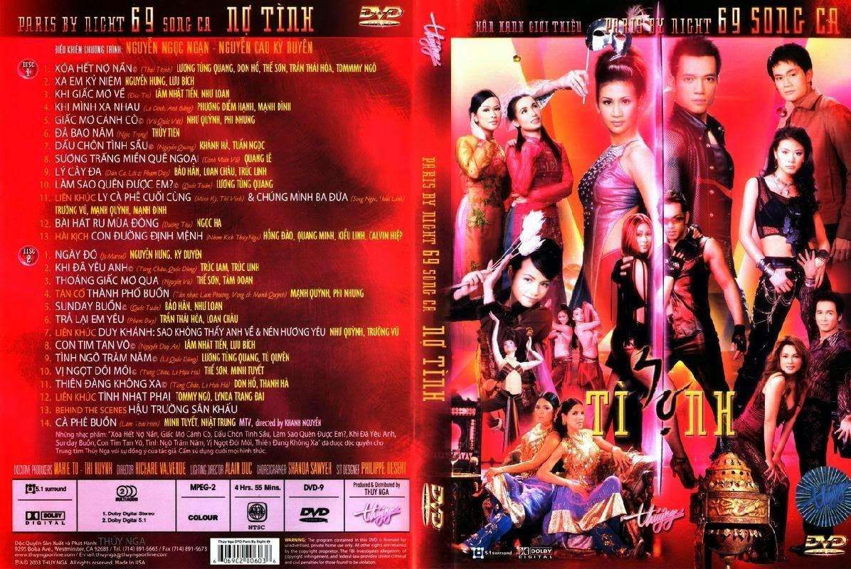 THẾ GIỚI ÂM NHẠC: PBN Karaoke 45: Nợ Tình (DVD9