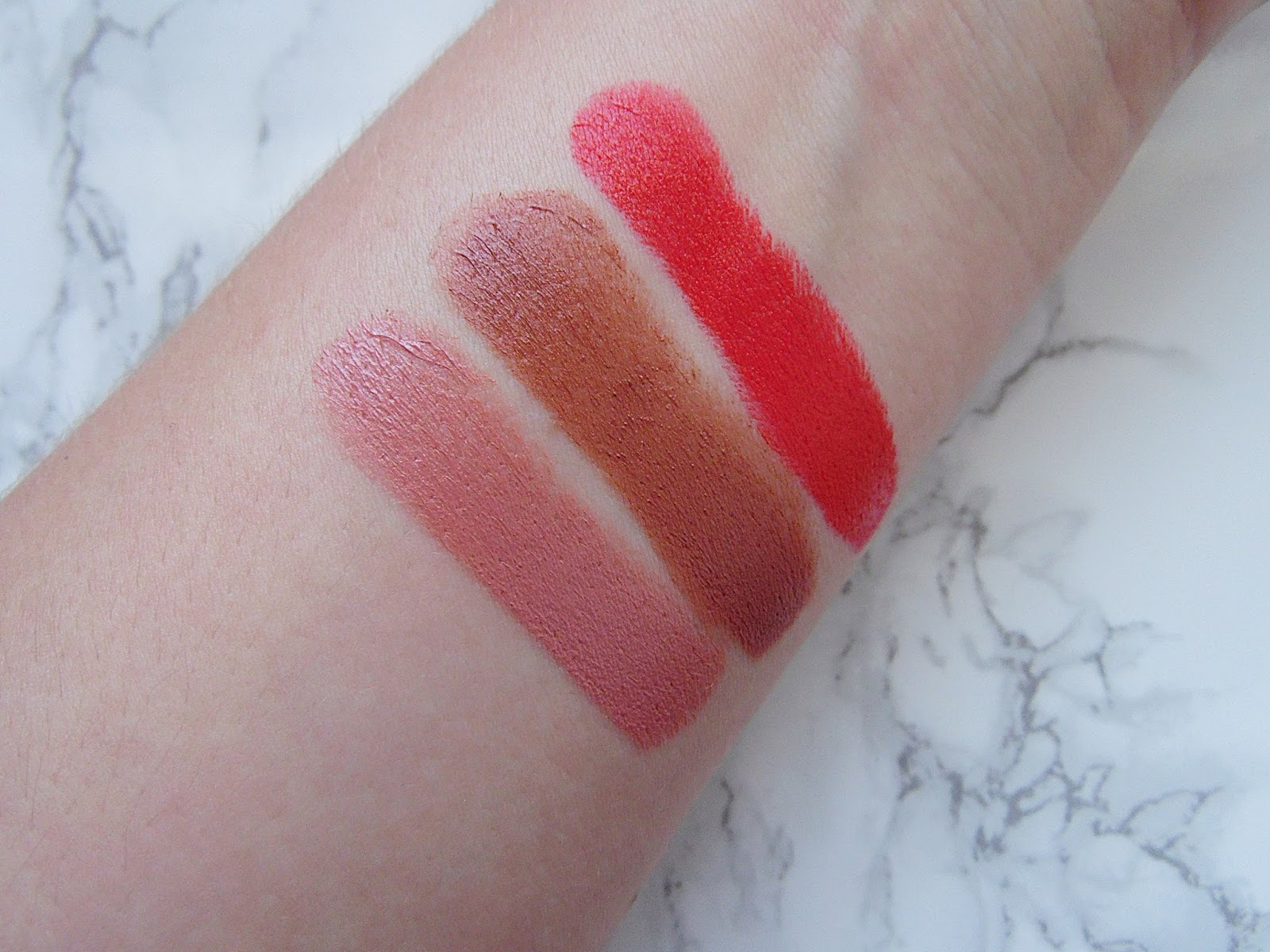 Mary Kay Gel Semi-Matte Lipsticks Swatches