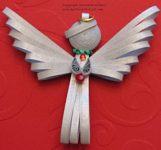 quilling quilled angel ornament