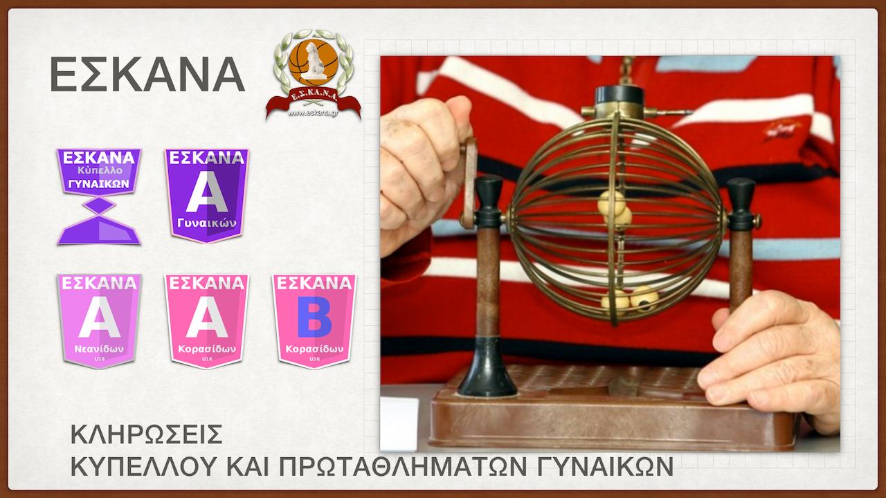 Σήμερα (19.07.2016) οι κληρώσεις του κυπέλλου και των πρωταθλημάτων γυναικών, νεανίδων και κορασίδων
