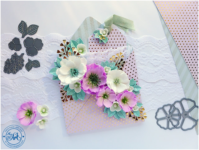 Koperta 3D z kwiatami / 3D envelope with flowers – DT Craft Passion