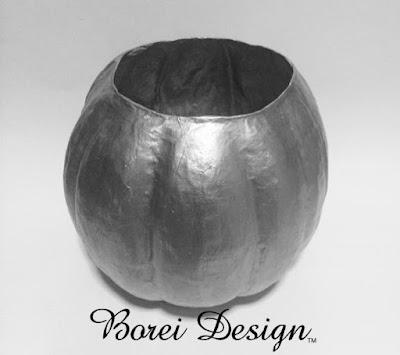 pumpkin container vase how to make paper mache pumpkin tutorial diy fall halloween thanksgiving crafts