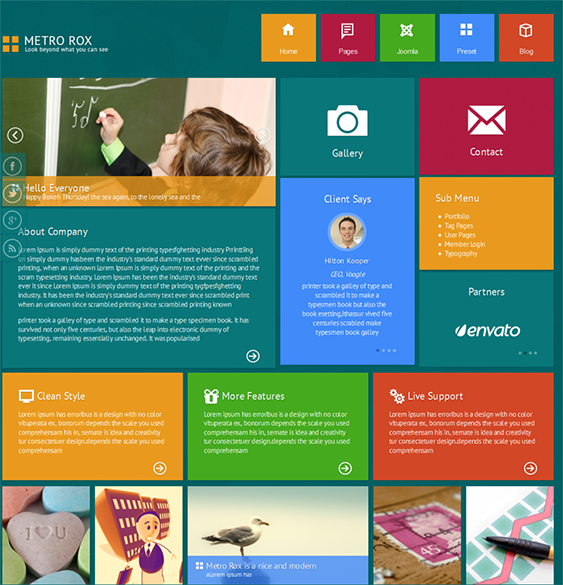 Web Page Site Map Example: The Best Free & Premium Metro Style, Responsive And SEO