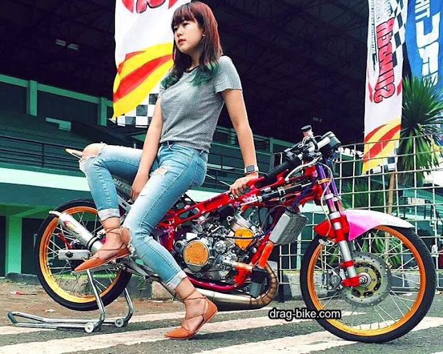 100 Foto Gambar Modifikasi NINJA R Drag Bike Racing Tercepat