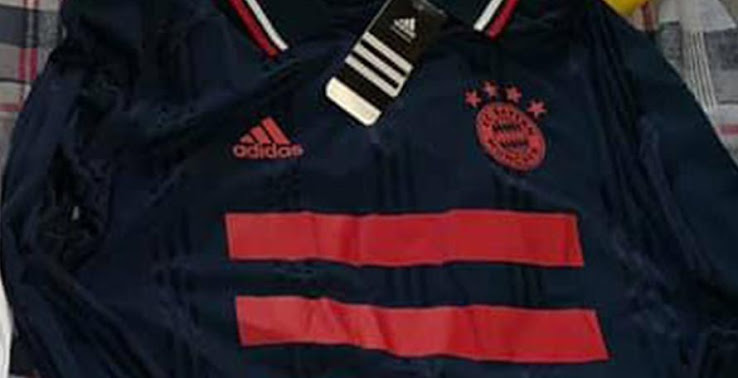 The Adidas Bayern Munich retro jersey combines the colors Collegiate Navy    FCB True Red. The same color combo has been used for the Bayern Munich 2017- 18 ... ceeb5bee6