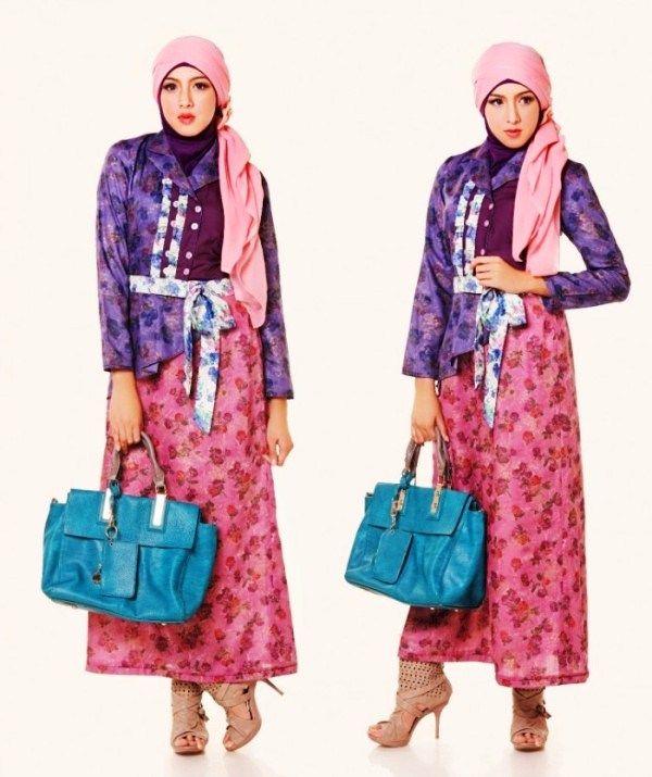 40 Model Baju Batik Remaja Putri Muslim Lengan Panjang