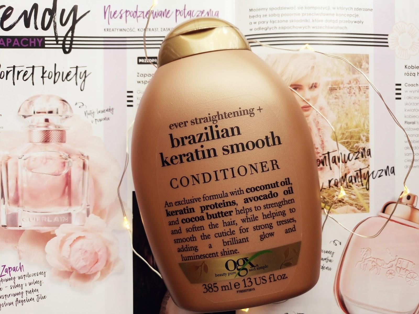 Organix Brazilian Keratin Therapy Odżywka wygładzająca do włosów z keratyną