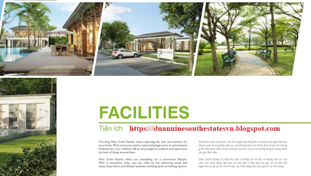 Tiện ích dự án Nine South Estates biệt thự cao cấp khu NhaBe