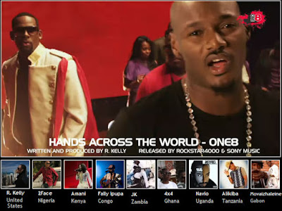 Video R.Kelly Ft. 2face, 4×4, Alikiba, Amani, Fally Ipupa, JK, Movaizhaleine & Navio (One 8) – Hands Across The World