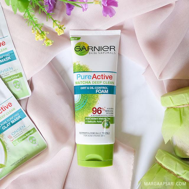 Review Garnier Pure Active Matcha Deep Clean Facial Foam
