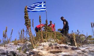 «Έτσι βάλαμε τη σημαία στο Μικρό Ανθρωποφά - Θέλαμε να τιμήσουμε τον ήρωα Γιώργο Μπαλταδώρο»