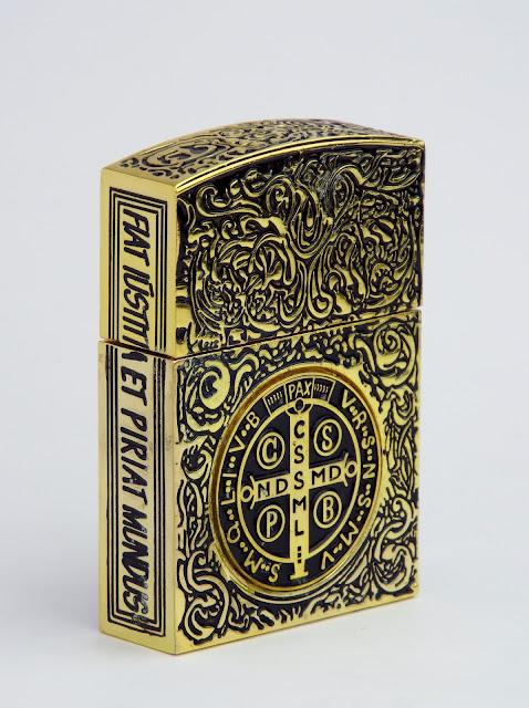 コンスタンティン ZIPPO ライター ムービーサイズ レプリカ 6面彫り #200 DSCF5944