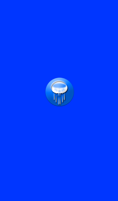 Mysterious blue jellyfish