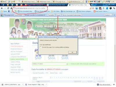 HACKER Serang Situs Pendaftaran Online Siswa baru Kabupaten Tuban