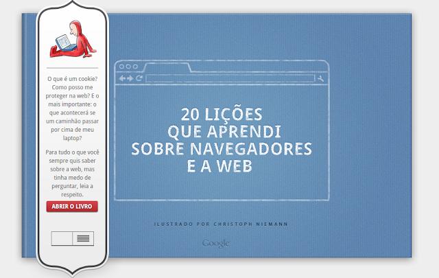 """Livro do Google batizado de """"20 lições que aprendi"""" explica a web está disponível em português!"""