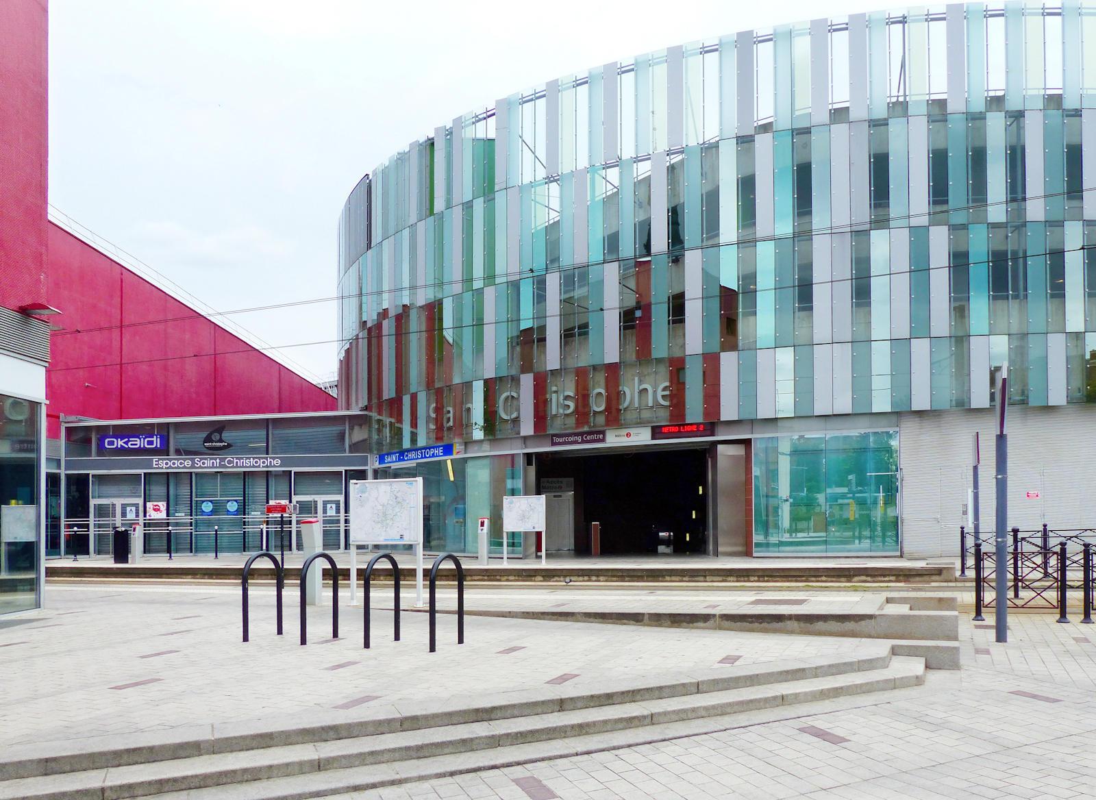 Station Métro Tourcoing Centre - Espace Saint Christophe, côté Fidèle Lehoucq