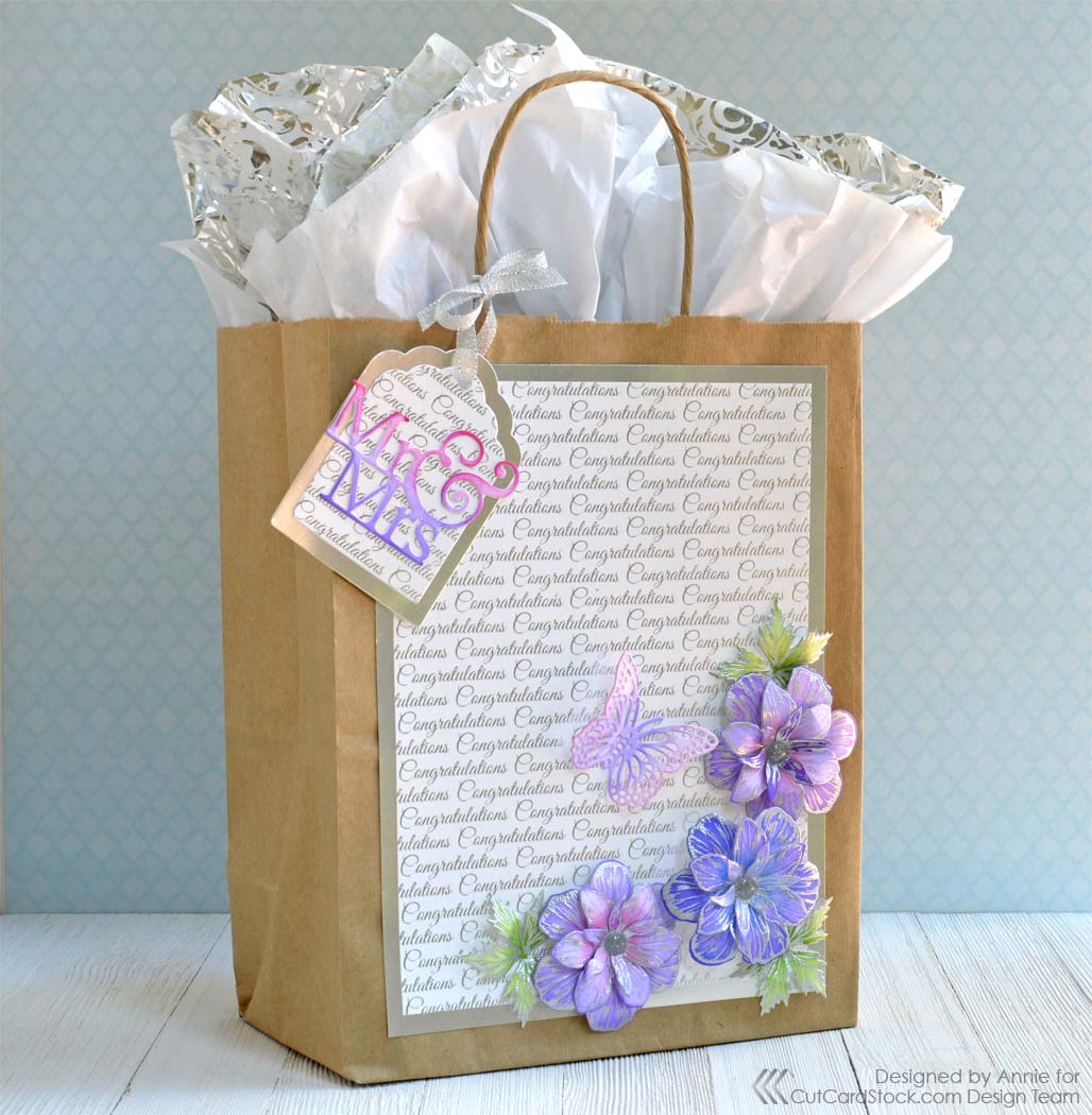 Ways to decorate gift bags - I Hope I Ve Inspired You With This Easy Hand Decorated Gift Bag And Thanks So Much For Stopping By Today Be Sure To Visit The Cutcardstock Store To