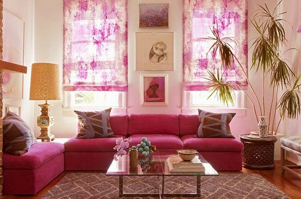 Funky Red And Gold Living Room Vignette - Living Room Designs ...