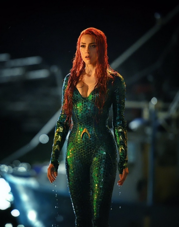 Amber Heard as Mera in Justice League Aquaman