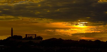 Dark Tourism Spotlight: Edinburgh: Sunset over Calton Hill
