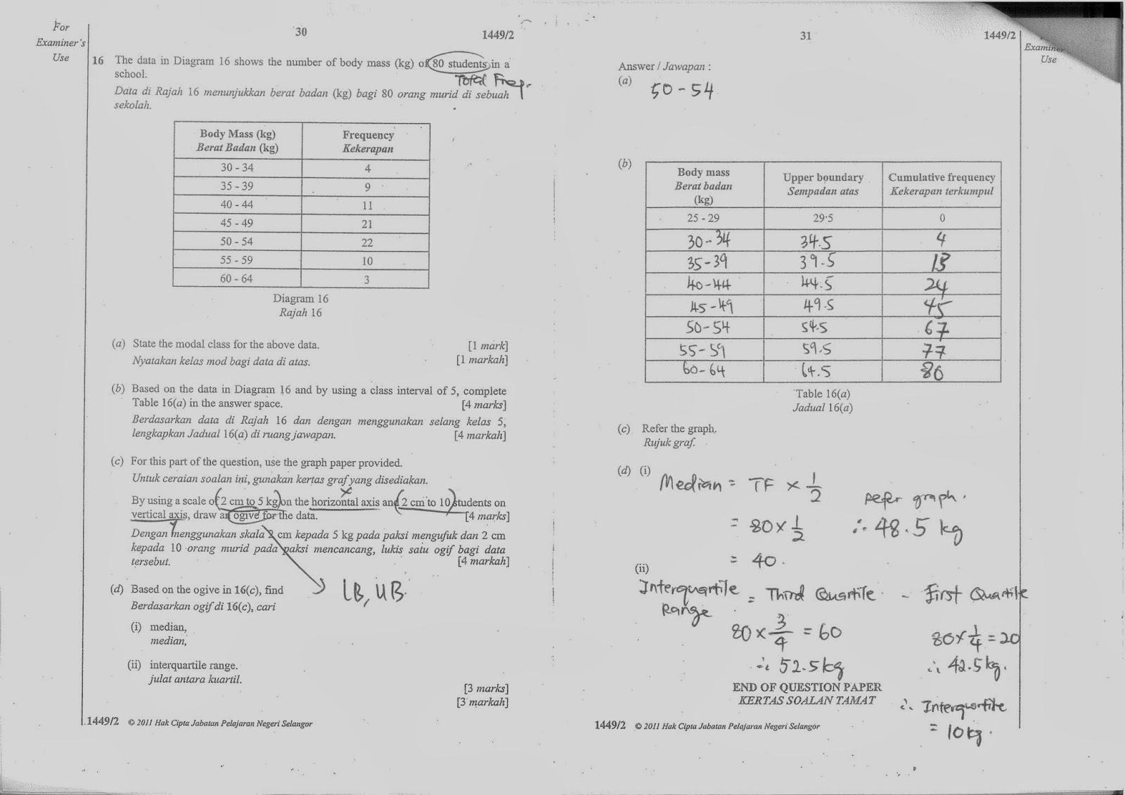 TTC MATHS DEPARTMENT: Form 4 Solution on JPS 2011 (OBJ