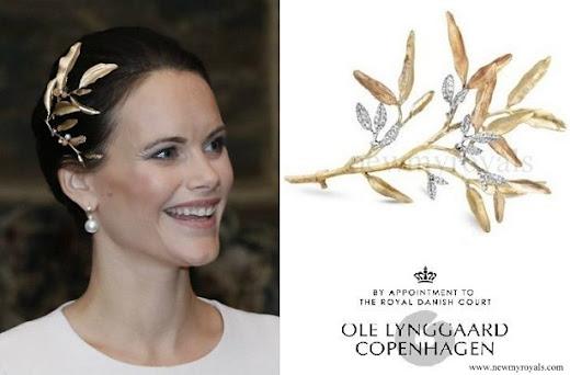 Princess Sofia Ole Lynggaard headpiece