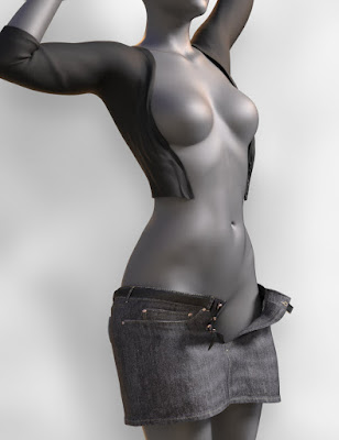JeanZ Skirt Outfit for Genesis 3 Female(s)
