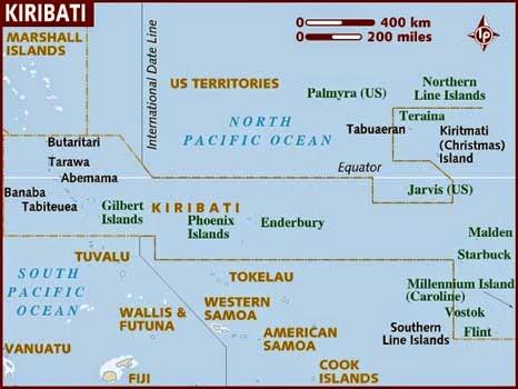 Peta Negara Kiribati