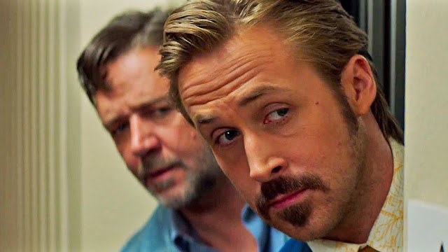 "Russell Crowe and Ryan Gosling in Shane Black's ""The Nice Guys"""