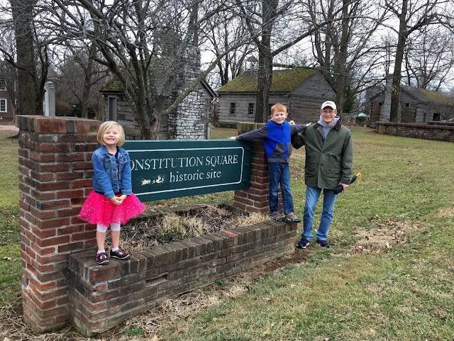 Family at Constitution Square in Danville, Kentucky