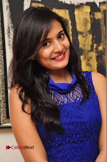 Actress Radha Pictures in Blue Short Dress at talabbayi Audio Launch  0003