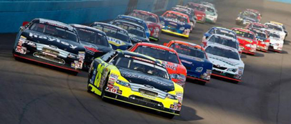 West drivers go around the Phoenix International Raceway in 2014.  Jeff Zelevansky/Getty Images for NASCAR
