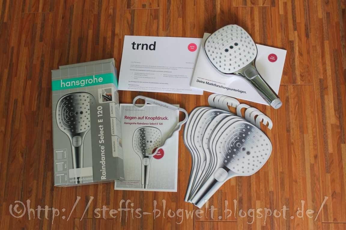 raindance select e 120 von hansgrohe. Black Bedroom Furniture Sets. Home Design Ideas