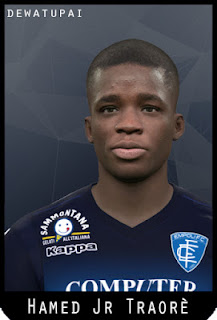 PES 2017 Faces Hamed Junior Traorè by Dewatupai