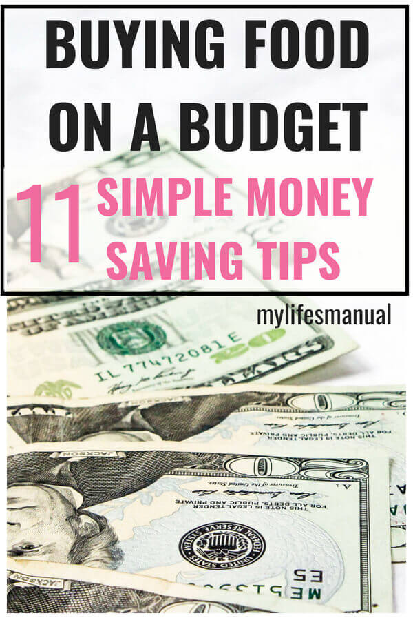 Personal finance. 11 money saving tips to save money on food.