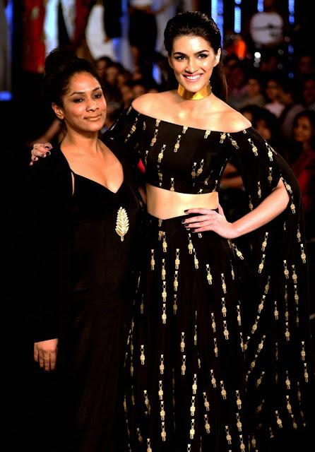 Kriti Sanon in Ramp Walked for Designer Masaba Gupta Lehenga