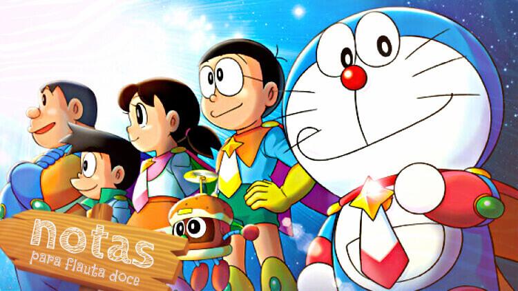 Abertura de Doraemon - Notas para flauta doce