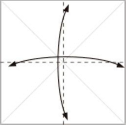 Bước 2: Gấp tạo nếp gấp tại vị trí nét đứt