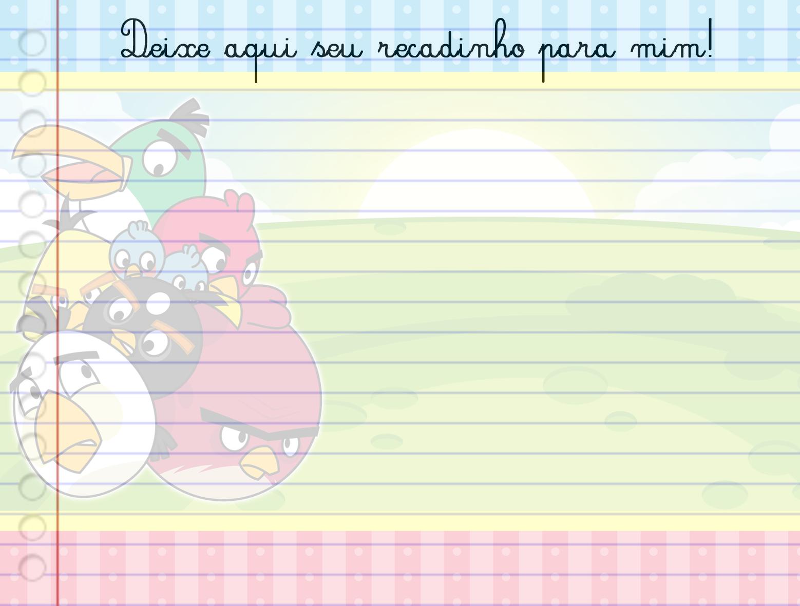Para hacer invitaciones, tarjetas, marcos de fotos o etiquetas, para imprimir gratis de Angry Birds.