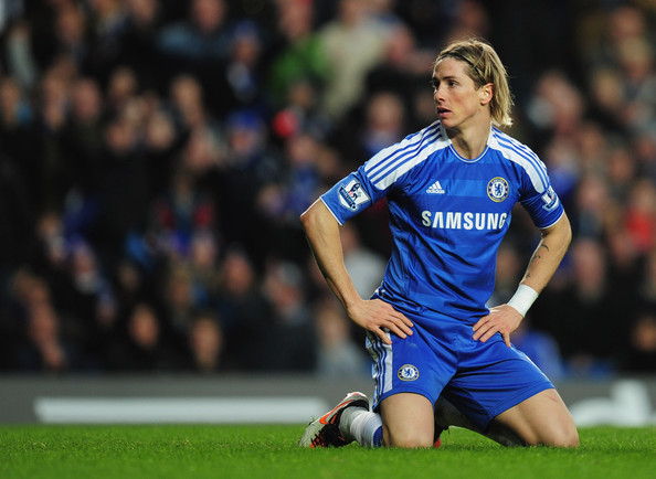 Fernando Torres of Chelsea looks on during the Barclays Premier League match between Chelsea and Sunderland at Stamford Bridge on January 14, 2012 in London, England