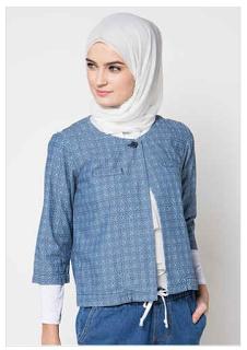 Cardigan Batik Wanita Modern Muslimah