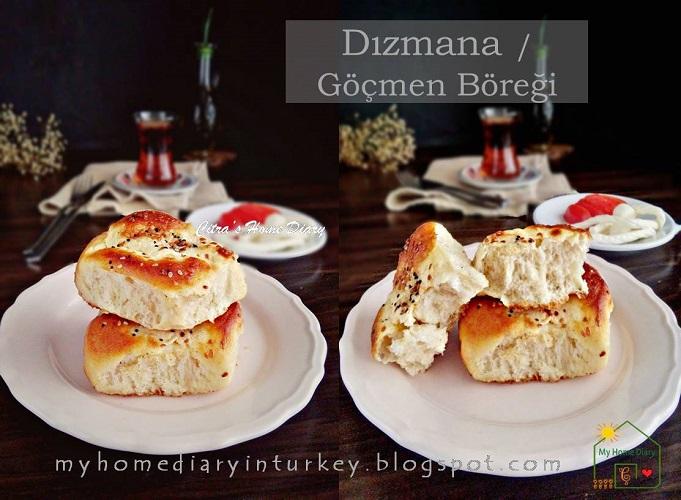 Turkish Recipe; Dızmana / Göçmen Böreği | Çitra's HOme Diary. #turkishfoodrecipe #börekler #turkishborek #pastryrecipe #breakfast #brunch #turkishcuisine #turkishpastry #resepmasakanturki #gocmenboregi #yogurt #softbread