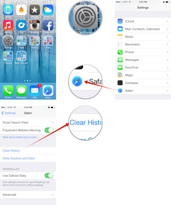 Cara Menghapus History, Cache dan Cookies Browser di iPhone