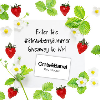 Enter the Crate & Barrel Strawberry Summer Giveaway. Ends 8/31