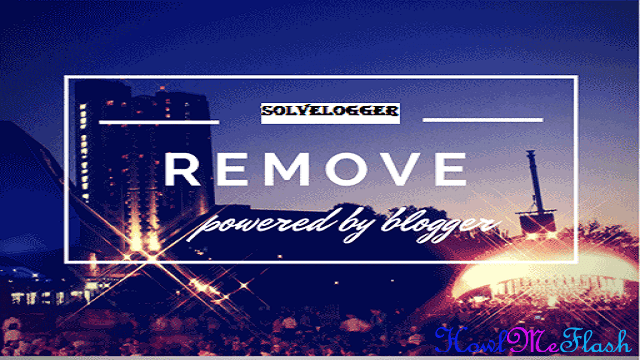 How to Remove Powered by Blogger in Blogger Templates
