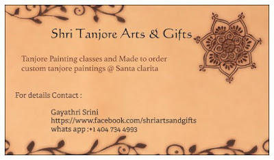 custom tanjore paintings USA tanjore painting classes Los angeles
